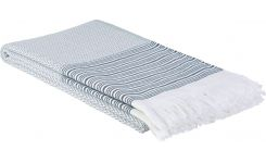 Fouta made of cotton 180x100, white and blue