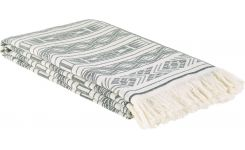 Fouta made of cotton 180x100, black and beige
