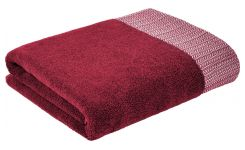 Bath towel made of cotton 50x100, red