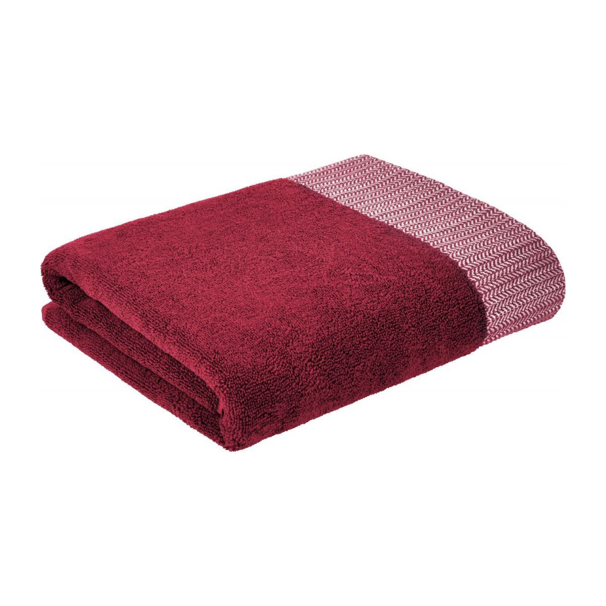 Bath towel made of cotton 70x140, red n°1