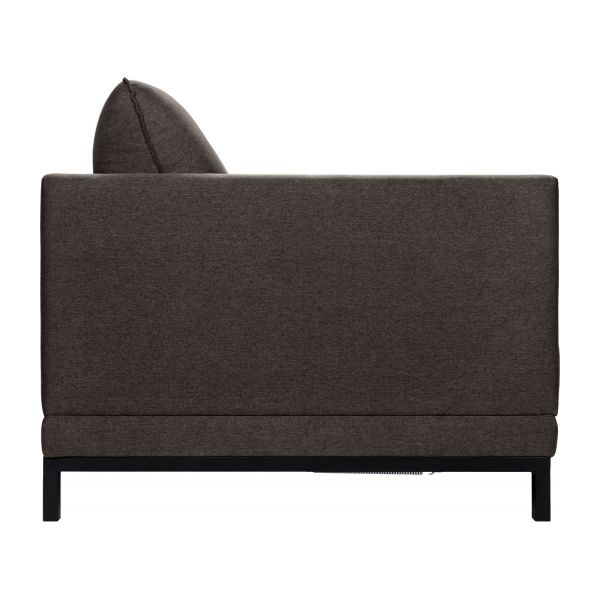 Fabric 3-seater sofa bed, anthracite n°6