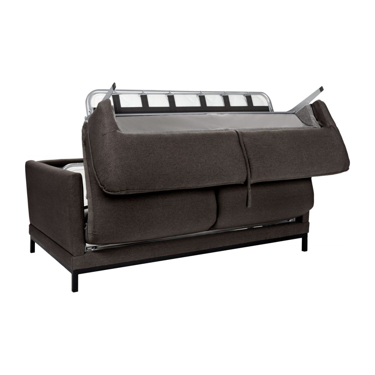 Fabric 3-seater sofa bed, anthracite n°2