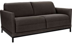 Fabric 3-seater sofa bed, anthracite
