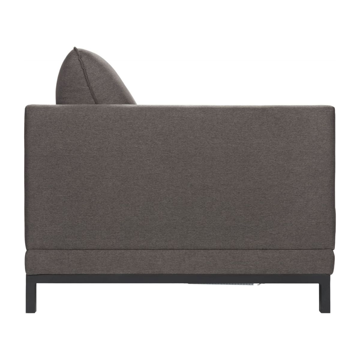 Fabric 3-seater sofa bed, grey n°6