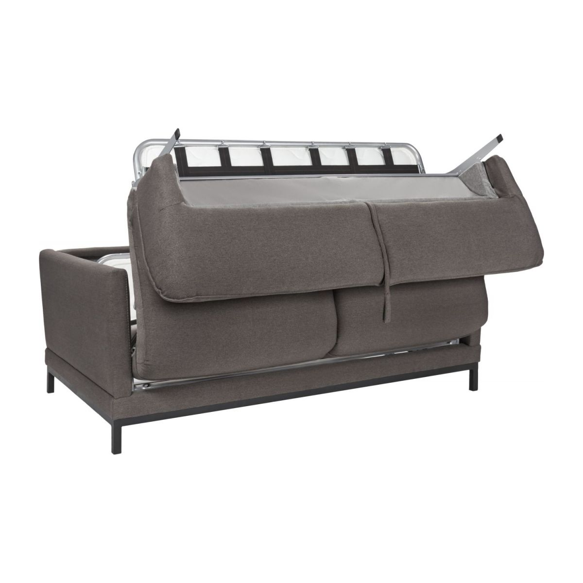 Fabric 3-seater sofa bed, grey n°2