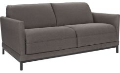 Fabric 3-seater sofa bed, grey