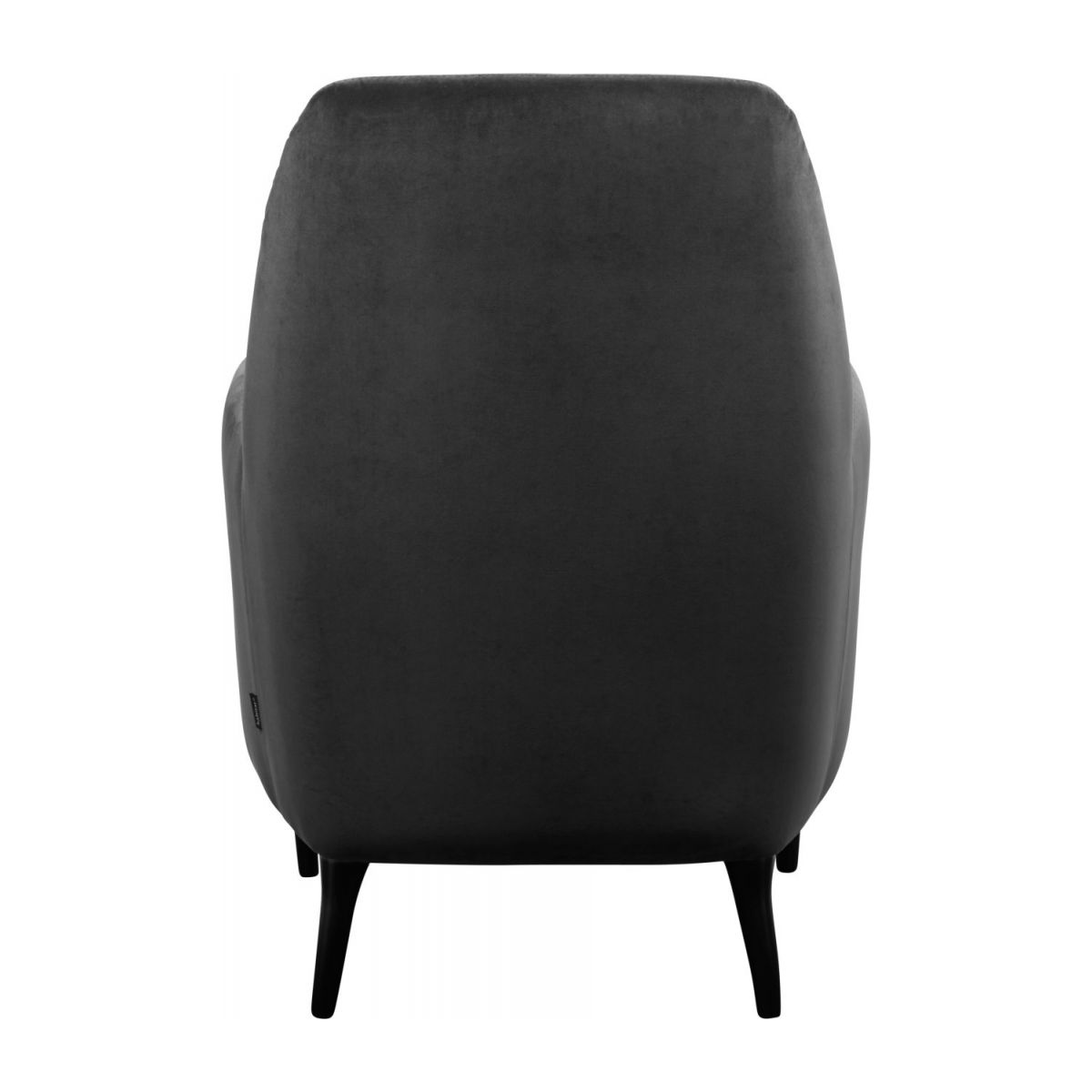 Velvet armchair, grey n°3