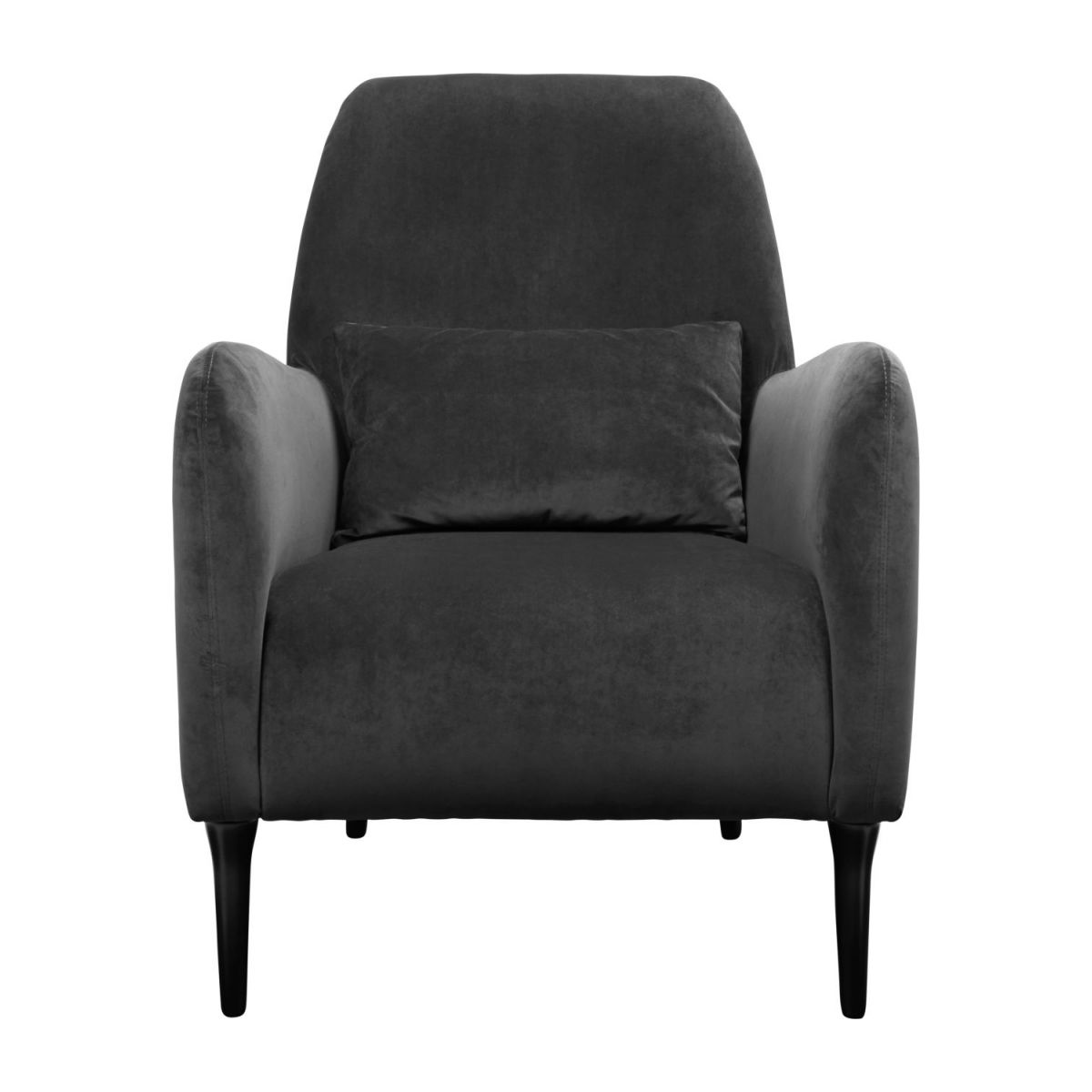 Velvet armchair, grey n°2