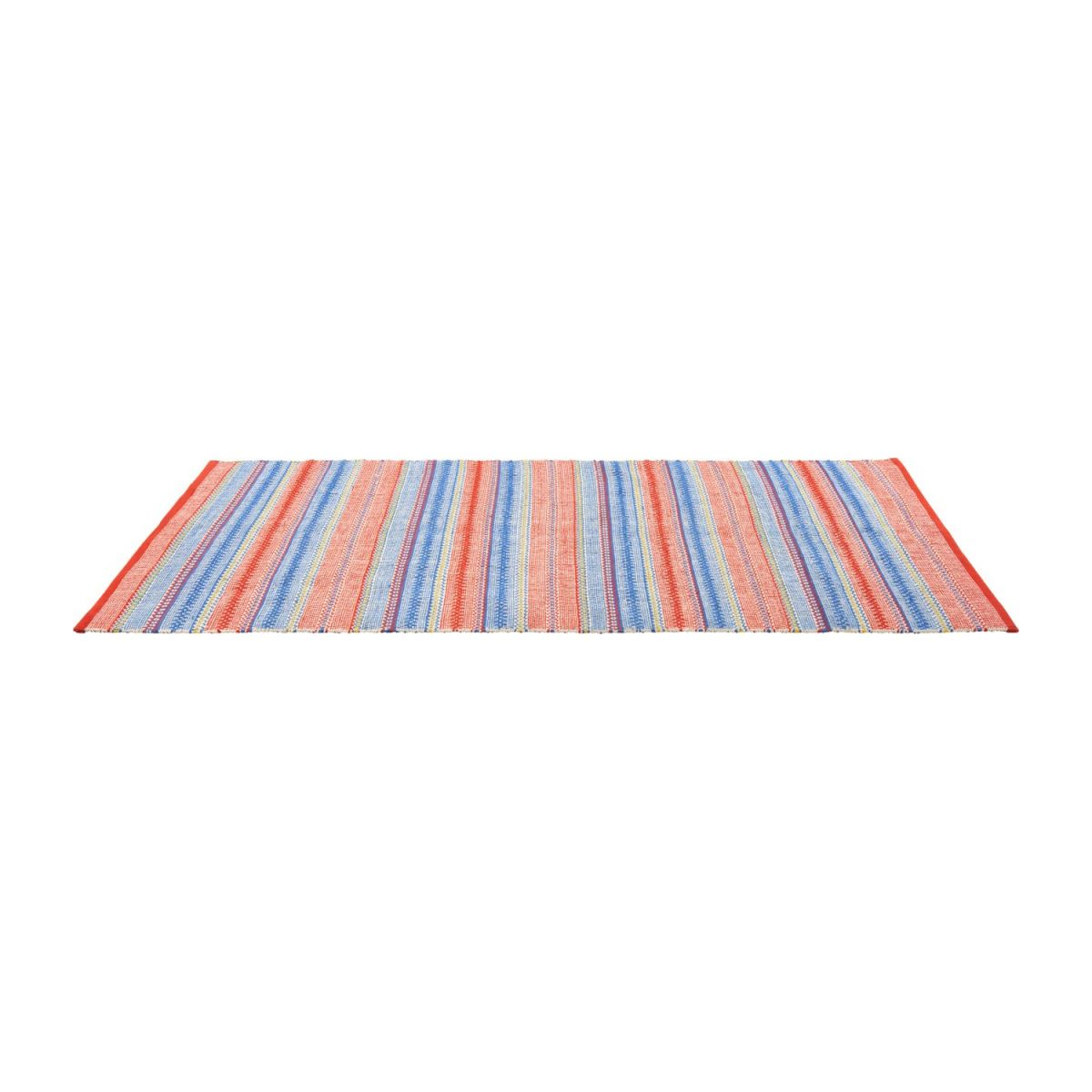 Flat-woven carpet  120x180, red and blue n°2