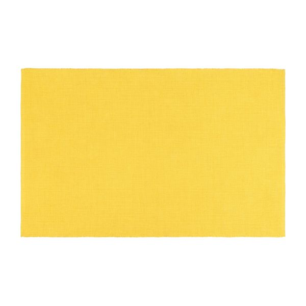 gilmore tapis tiss plat en coton 120x180 jaune habitat. Black Bedroom Furniture Sets. Home Design Ideas