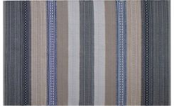 Woven carpet made of cotton 120x180, with stripes