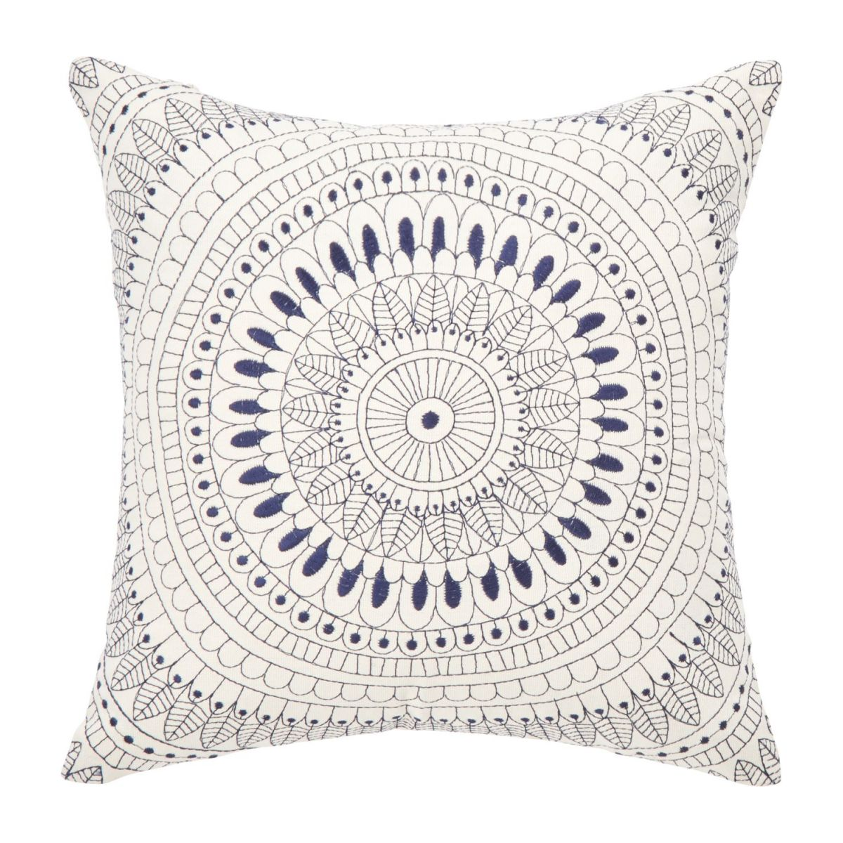 Coussin 30x30 broderie bleue n°1