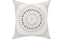 Cushion 30x30 broderie, blue