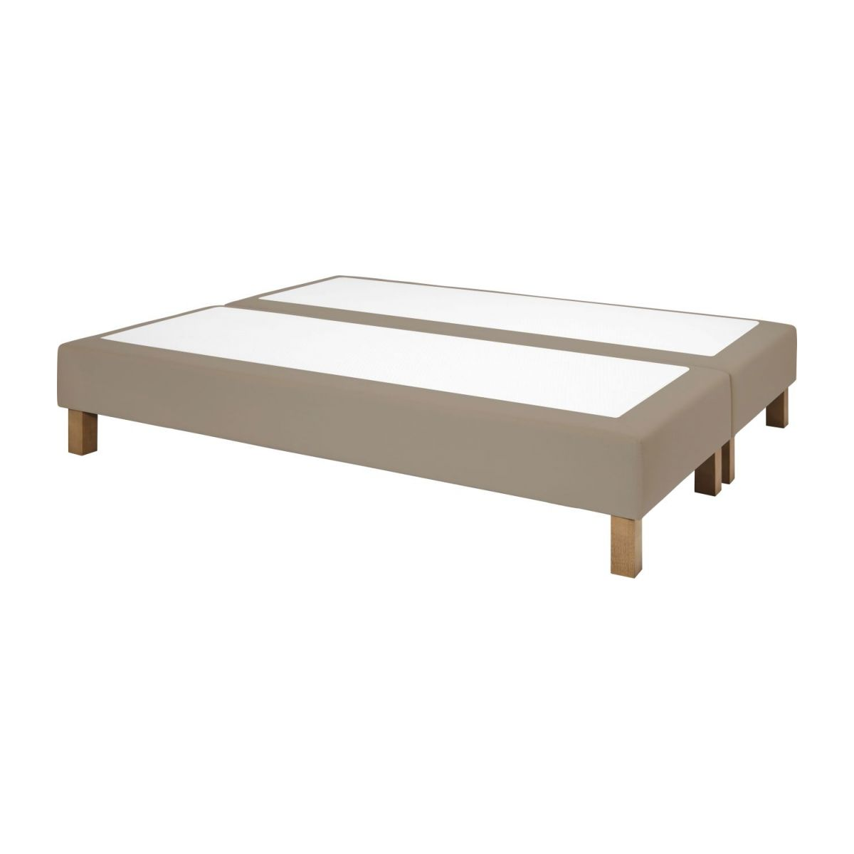 Slatted divan 2x80x200cm in fabric, light beige n°1