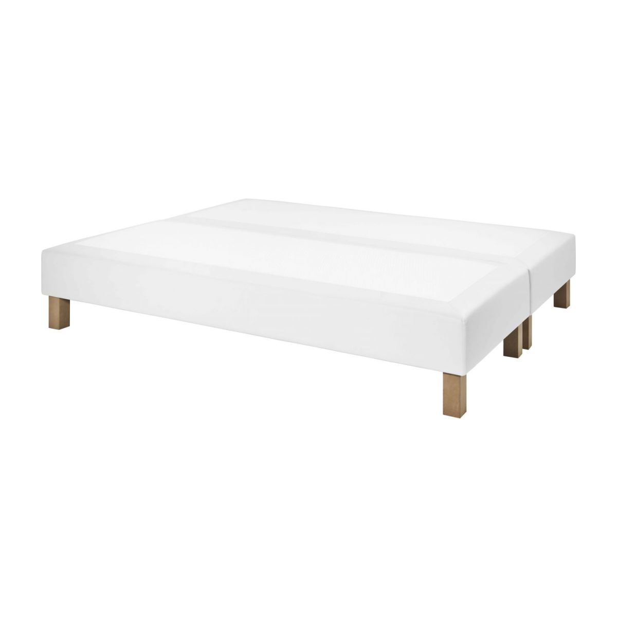 Slatted divan 2x80x200cm in imitation leather, white n°1
