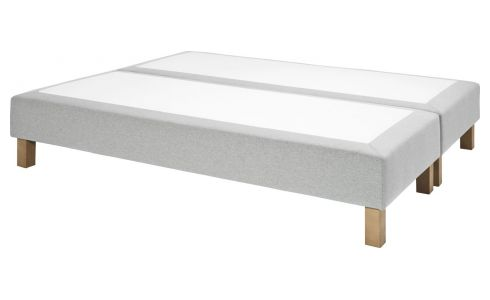 Spring divan 2x70x200 in fabric, mouse-grey
