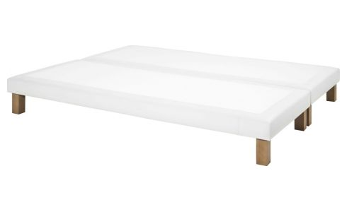 Spring divan 2x90x200 in imitation leather, white