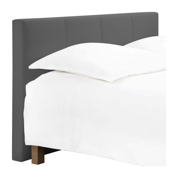 venus t te de lit pour sommier en 140 cm en tissu gris souris habitat. Black Bedroom Furniture Sets. Home Design Ideas