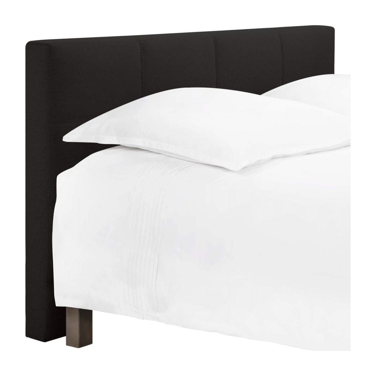 Headboard for 140cm box spring in fabric, anthracite n°1