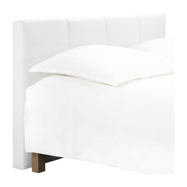 venus t te de lit pour sommier en 140 cm en simili cuir blanc habitat. Black Bedroom Furniture Sets. Home Design Ideas