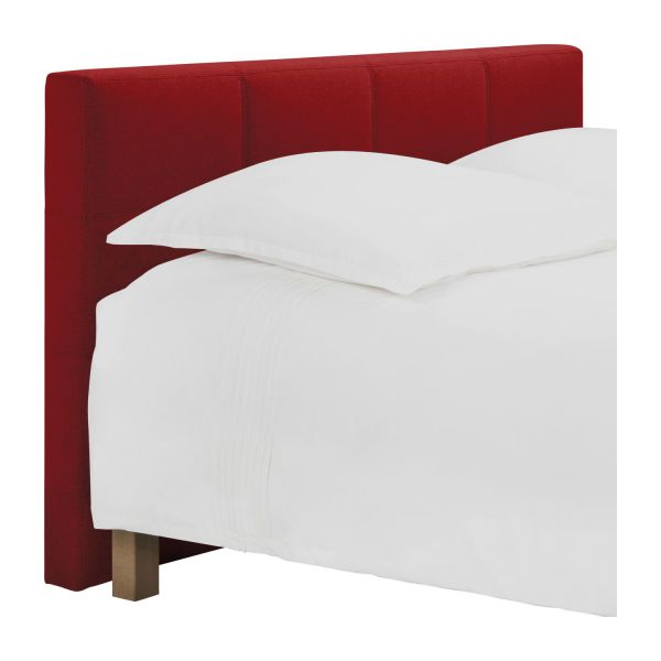 venus t te de lit pour sommier en 160 cm en feutrine rouge habitat. Black Bedroom Furniture Sets. Home Design Ideas
