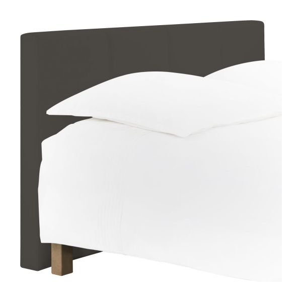 venus t te de lit pour sommier en 160 cm en simili cuir gris taupe habitat. Black Bedroom Furniture Sets. Home Design Ideas