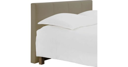 venus t te de lit pour sommier en 180 cm en tissu beige clair habitat. Black Bedroom Furniture Sets. Home Design Ideas