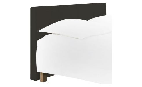 Headboard for 180cm box spring in imitation leather, dark brown