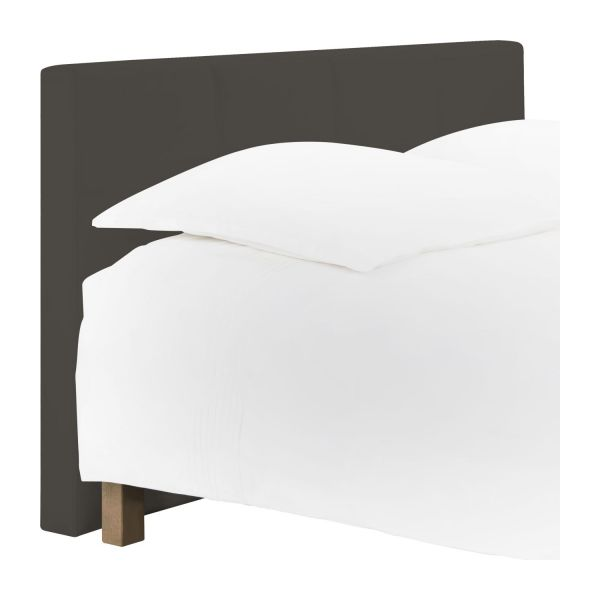 venus t te de lit pour sommier en 180 cm en simili cuir gris taupe habitat. Black Bedroom Furniture Sets. Home Design Ideas