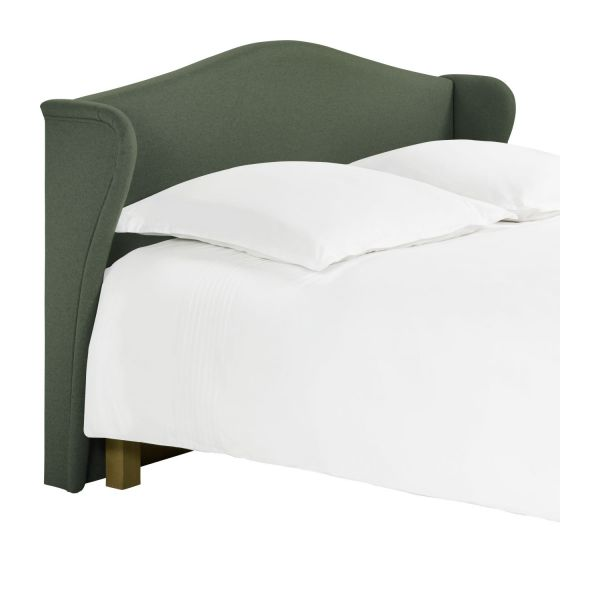 ushuaia t te de lit pour sommier en 140 cm en feutrine vert chin habitat. Black Bedroom Furniture Sets. Home Design Ideas