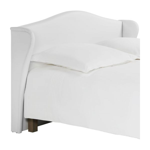 ushuaia t te de lit pour sommier en 140 cm en simili cuir blanc habitat. Black Bedroom Furniture Sets. Home Design Ideas