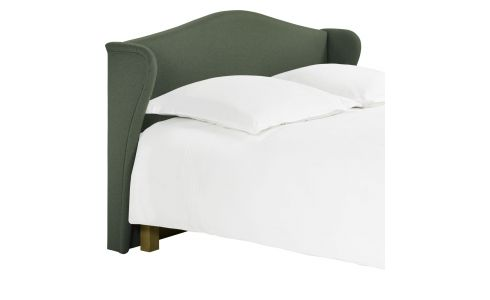 Headboard for 160cm box spring in felt, green marl