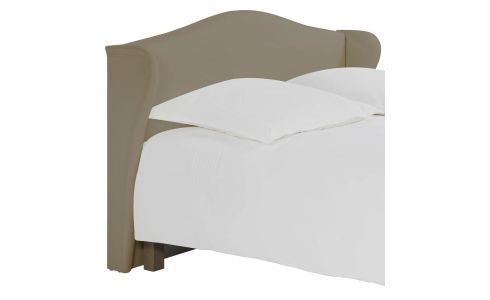 Headboard for 160cm box spring in fabric, light beige