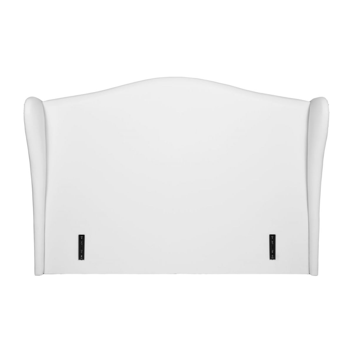 Headboard for 160cm box spring in imitation leather, white n°2