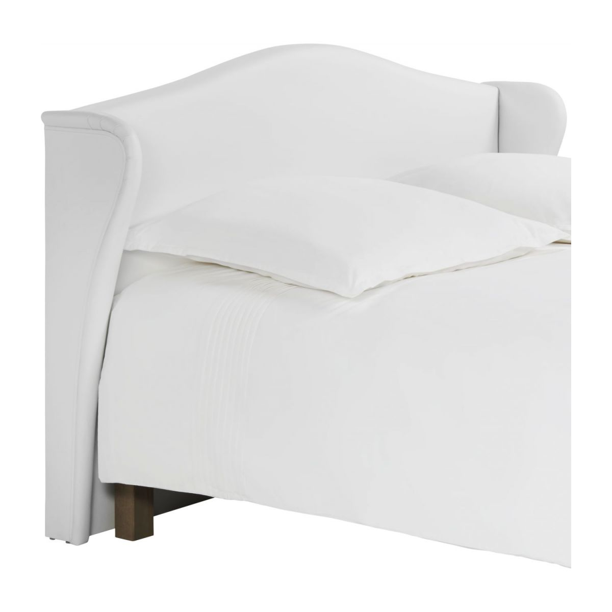 Headboard for 160cm box spring in imitation leather, white n°1