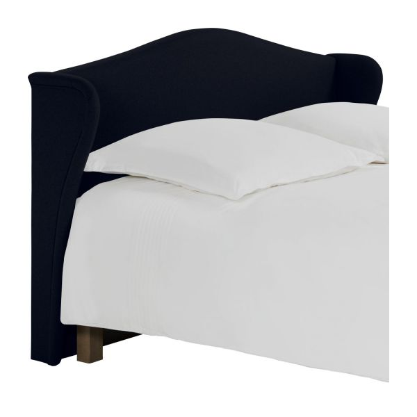 ushuaia t te de lit pour sommier en 180 cm en feutrine bleu marine habitat. Black Bedroom Furniture Sets. Home Design Ideas