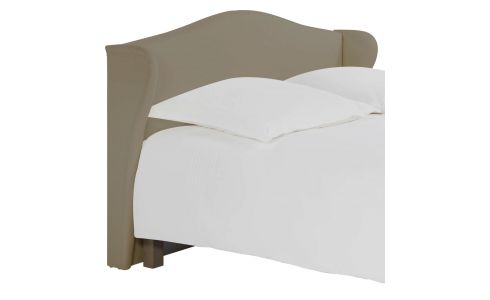 Headboard for 180cm box spring in fabric, light beige