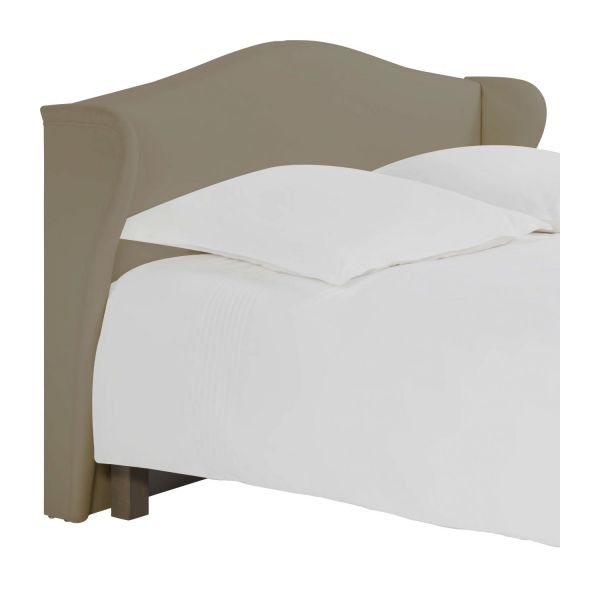 ushuaia t te de lit pour sommier en 180 cm en tissu beige clair habitat. Black Bedroom Furniture Sets. Home Design Ideas