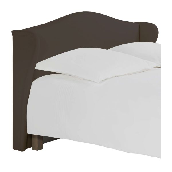 ushuaia t te de lit pour sommier en 180 cm en tissu cappuccino habitat. Black Bedroom Furniture Sets. Home Design Ideas