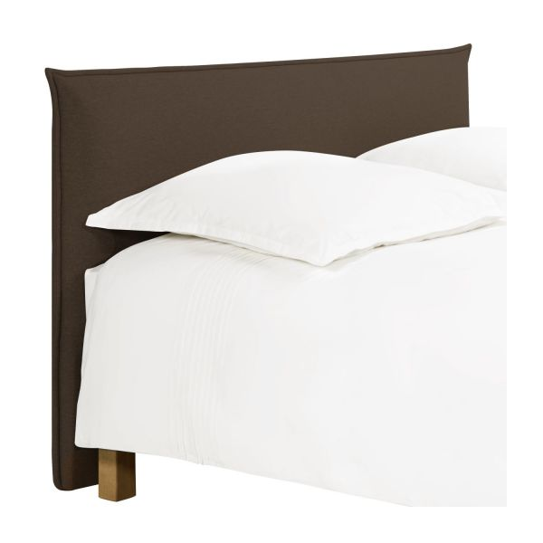jupiter t te de lit pour sommier en 140 cm en tissu noisette habitat. Black Bedroom Furniture Sets. Home Design Ideas