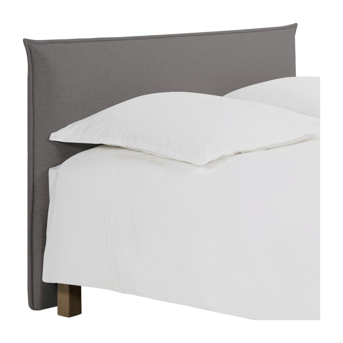 Headboard for 140cm box spring in fabric, mouse-grey n°1