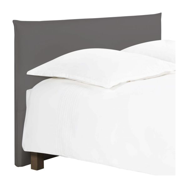 jupiter t te de lit pour sommier en 160 cm en tissu gris souris habitat. Black Bedroom Furniture Sets. Home Design Ideas