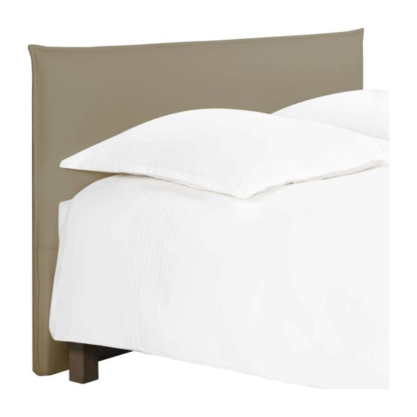 jupiter t te de lit pour sommier en 160 cm en tissu beige clair habitat. Black Bedroom Furniture Sets. Home Design Ideas