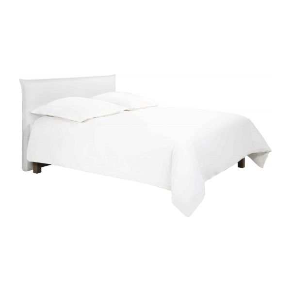 jupiter t te de lit pour sommier en 160 cm en simili cuir blanc habitat. Black Bedroom Furniture Sets. Home Design Ideas