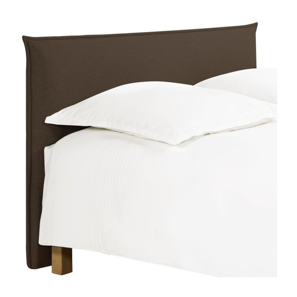 jupiter t te de lit pour sommier en 180 cm en tissu noisette habitat. Black Bedroom Furniture Sets. Home Design Ideas
