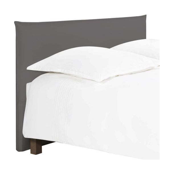 jupiter t te de lit pour sommier en 180 cm en tissu gris souris habitat. Black Bedroom Furniture Sets. Home Design Ideas