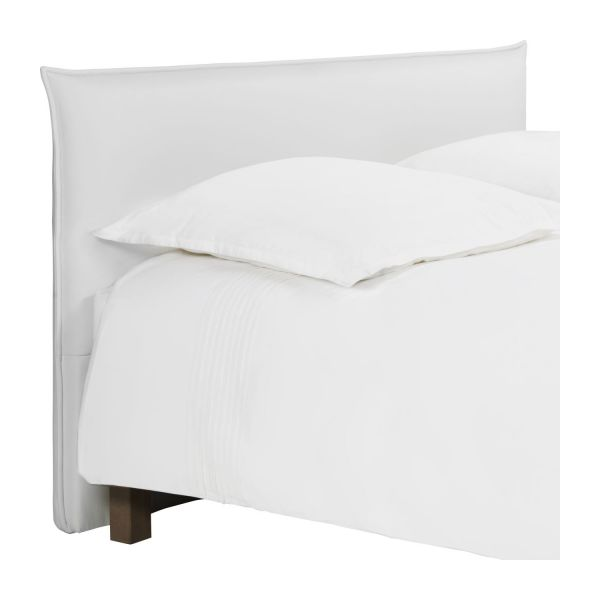 jupiter t te de lit pour sommier en 180 cm en simili cuir blanc habitat. Black Bedroom Furniture Sets. Home Design Ideas