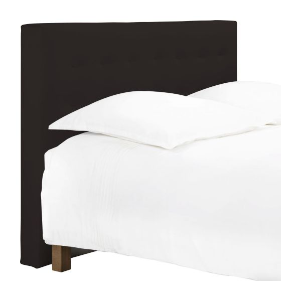 serengeti t te de lit pour sommier en 160 cm en simili cuir brun fonc habitat. Black Bedroom Furniture Sets. Home Design Ideas
