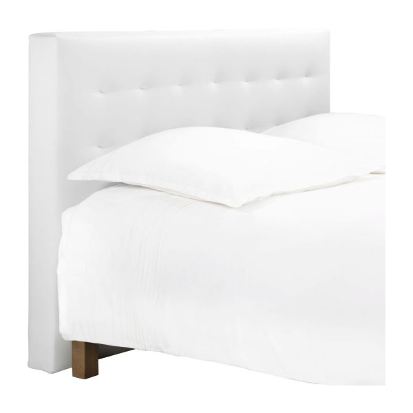 serengeti t te de lit pour sommier en 160 cm en simili cuir blanc habitat. Black Bedroom Furniture Sets. Home Design Ideas