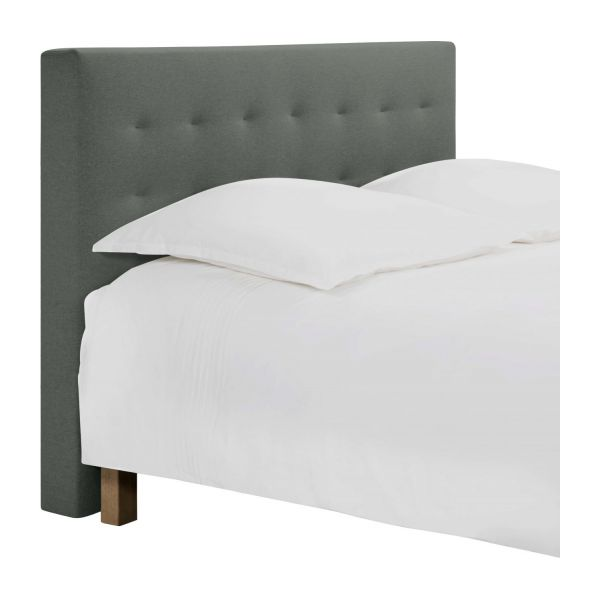 serengeti t te de lit pour sommier en 180 cm en tissu gris clair habitat. Black Bedroom Furniture Sets. Home Design Ideas